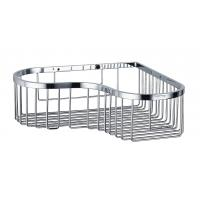 Buy Bathroom Accessory Corner Basket Shelf Stainless Steel Easy Installation at wholesale prices