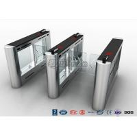 Quality Anti - Collision Walk Through Metal Swing Barrier Gate Bus Station Card Reader System for sale