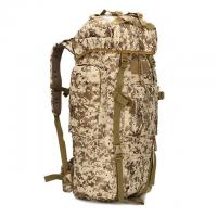 Buy Woodland Camo Outdoor Travel Backpack Oxford Fabric 65L For Long Trips at wholesale prices
