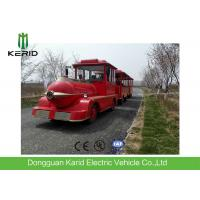 Quality Diesel Power 42 Seats Small Trackless Train For Amusement Park Low Emission for sale