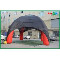 Quality Red / Black Spider Inflatable Dome Tent 4 Legs With Oxford Cloth Fire Retardant for sale