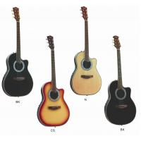Buy Senior Round Back Cutaway Spruce Electric Acoustic Guitar / Western Guitar at wholesale prices