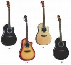 Quality Senior Round Back Cutaway Spruce Electric Acoustic Guitar / Western Guitar Professional 3 Band AF4120CR-EQ2 for sale