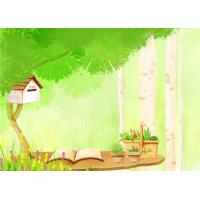 Buy Cartoon Picture Green Bamboo Fiber Board Healthy and Livable for Living Room at wholesale prices