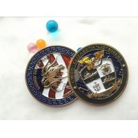 Quality Soft enamel Die casting Printing double side brass coin souvenir, custom military 3d challenge coin for sale