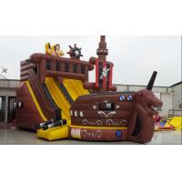 Buy cheap Pirate Ship With Inflatable Slide For Rental , Pvc Inflatable Slide With Many Play Items Inside For Kids from wholesalers