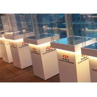 Buy Elegant Wooden Glass Display Cabinets Pre - Assembled Structure With LED at wholesale prices