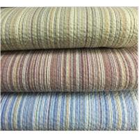 Quality Colored Striped Linen / Cotton Seersucker Fabric 32*30 / 80*70 for sale