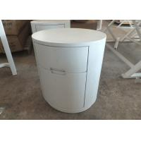 Quality Round Contemporary Nightstands 2 Drawers White Color Paint OEM Service for sale