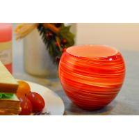 Quality Colorful Glass Candle Holder for Wedding Decor , Red Yellow Color Material Mixed Planet for sale