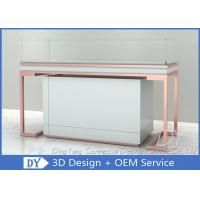 Buy Rose Gold Glass Jewellery Shop Display Counter / Jewelry Counter at wholesale prices