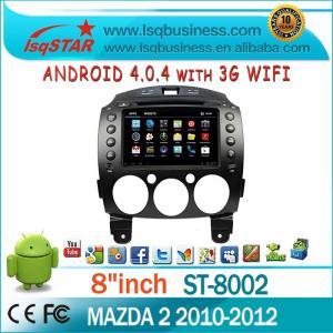 Quality PIP Steering Wheel Control Mazda DVD GPS For Mazda 2 for sale