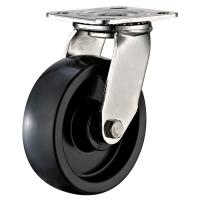 Quality Heavy Duty Stainless Steel Caster Wheels With Brakes Swivel Plate Customized Size for sale