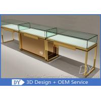 Buy Fashion Inexpensive Gold Stainless Steel New Jewelry Showcases at wholesale prices