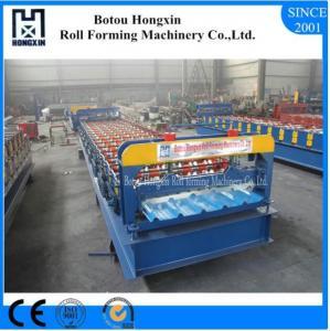 China Metal Roof Ridge Cap Roll Forming Machine, Steel Roof Panel Roll Forming Machine on sale