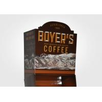 Cardboard Floor Display Stand With Removable Base For Coffee Retail Store