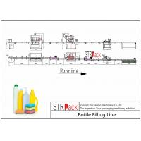 Quality Cleaner Bottle Filling Line With Anti corrosive Gravity bottle Filler and Rotary Capping Machine for sale
