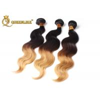 Buy Mixed Color Real Ombre Remy Human Hair Extensions Body Wave Hair Weave at wholesale prices