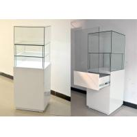 Quality White Glass Wooden Jewelry Display Cases With Locks 500 X 500 X 1500MM for sale