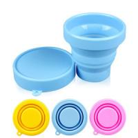 100% silicone rubber Products unbreakable foldable drinking cup with lid