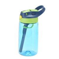 Quality 700ml Hiking Outdoor Sports Water Bottle With Straw Wide Mouth Lid for sale