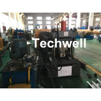 Quality Carbon Steel Top Hat Channel Cold Roll Forming Machine With 1.5 Inch Chain for sale