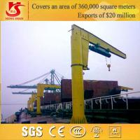 20ton Heavy duty fixed slewing jib crane with electric hoist for sale