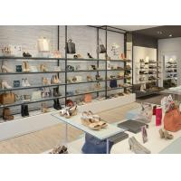 Buy MDF Shoe Display Shelves Matte White Coating Finishes Modern Special Appearance at wholesale prices