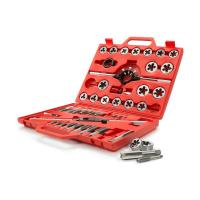 Quality Alloy Steel / HSS / Carbon Steel Tap and Die Set Metric with Titanium Nitride Coated for sale