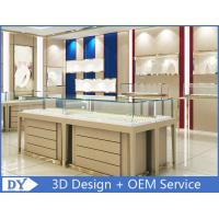 Buy cheap High End Wood Gold Shop Furniture Jewelry Showroom Interior Design from wholesalers