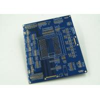 Quality Blue Multilayer PCB For Controller White Silkscreen Gold Surface Finish for sale