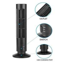 Creative Household Mini Tower Fan , USB Tower Desk Fan With Manual And Remote Control for sale