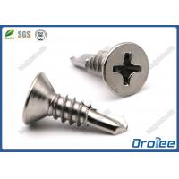 Quality Martensite 410 Stainless Steel Philips Flat Head Self Drilling Metal Screws for sale