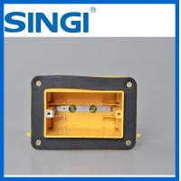 Buy One Gang Plastic electric cable junction box for outlet with foam at wholesale prices