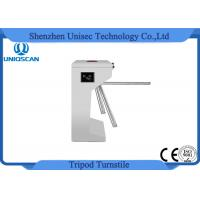 Quality Security Tripod Access Control Turnstile Gate 24V With Fingerprint / ID Card System for sale