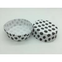 Quality Round Shape Wedding Black And White Polka Dot Cupcake Liners Greaseless Non Stick for sale