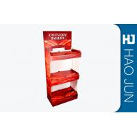 Quality Supermarket Cardboard Advertising Stand , Cardboard Store Display For Bread for sale