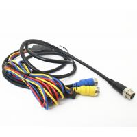 Quality Vehicle CCTV Backup Camera Cable 9pin Din To 2x4pin Plug With DC Connector for sale