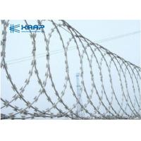 Quality Razor Blade Fencing Wire Razor Barbed Wire , Razor Ribbon Wire Stainless Steel for sale
