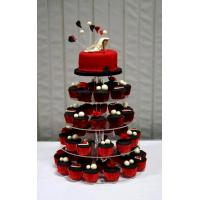 Quality 4-Tiers Square Acrylic Cupcake Display for sale