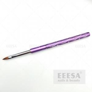 Quality Purple Handle Flower Leaf Building Art Painting 3D Kolinsky Nail Brush for sale