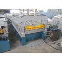 Quality 20-25m/min Trapezoidal Profile Roll Forming Machine With Cr12 Mould Steel Cutter for sale