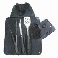 Quality Barbecue Tool Set with Satin Polish Blade for sale