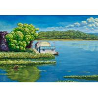 Quality frame painting landscape house painting for sale
