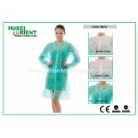 PP & MP & TVK Disposable Laboratory Coats With Velcro And Shirt Collar