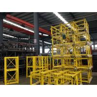 Quality Portable Construction Material Hoists / Passenger Hoist Green Yellow Customized for sale