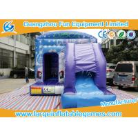 Quality House Jumping Inflatable Bouncy Castle with PVC material In Blue for sale