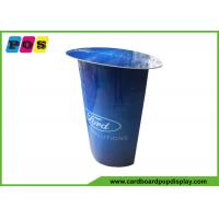 Buy cheap Blue Printing Stand Up Cutouts Portable Advertisng Cardboard Display Table AD017 from wholesalers