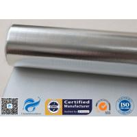 Quality Silver Coated Aluminium Foil Fiberglass Fabric 3732 0.43MM 430G Heat Reflective for sale