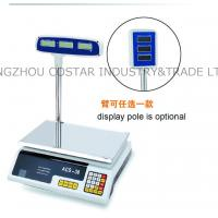 Quality price computing scale with pole display for sale